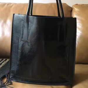 Miu Miu Black leather tote